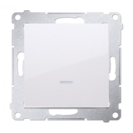 SIMON 54 Wyłącznik łącznik pojedynczy do ramki z podświetleniem biały DW1L.01/11