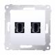 SIMON 54 Gniazdo podwójne HDMI do ramki białe DGHDMI2.01/11