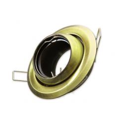 [OUTLET] KANLUX Oprawa halogenowa okrągła rybie oko ruchoma do MR11/Gx4 złoto/mosiądz CT-2118 ZZ101