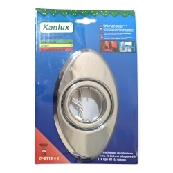 [OUTLET] KANLUX Oprawa halogenowa ruchoma OWAL chrom CT-2115 OU003