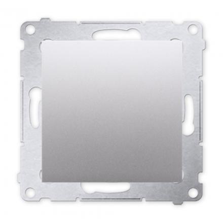 SIMON 54 Przycisk łącznik zwierny pojedynczy do ramki srebrny mat DP1.01/43