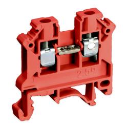 SIMET Złączka gwintowa szynowa 2-przewodowa 1-torowa 2,5mm² czerwona 11221311