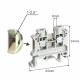 SIMET Złączka gwintowa szynowa 2-przewodowa 1-torowa 2,5mm² wymiary
