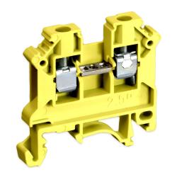 SIMET Złączka gwintowa szynowa 2-przewodowa 1-torowa 2,5mm² żółta 11221314