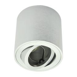 Oprawa natynkowa LED ALUMINIUM okrągła ruchoma satyna + gniazdo GU10 ID-5000