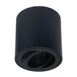 PROVERO CORTO Oprawa natynkowa LED ALUMINIUM okrągła ruchoma czarna + gniazdo GU10 ID-5002
