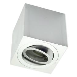 PROVERO MODUS Oprawa natynkowa LED ALUMINIUM kwadratowa ruchoma satyna + gniazdo GU10 ID-5020