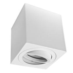 PROVERO MODUS Oprawa natynkowa LED ALUMINIUM kwadratowa ruchoma biała + gniazdo GU10 ID-5021