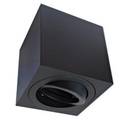 PROVERO MODUS Oprawa natynkowa LED ALUMINIUM kwadratowa ruchoma czarna + gniazdo GU10 ID-5022