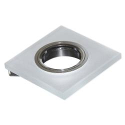 BROLUX Oprawa oprawka halogenowa kwadratowa stała szkło szronione