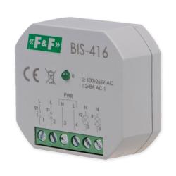 F&F Przekaźnik impulsowy bistabilny włącz-wyłącz do puszki 2Z 2x8A 230V AC BIS-416