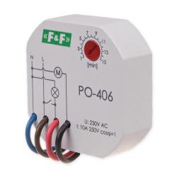 F&F Przekaźnik czasowy z opóźnionym opadaniem 1Z 10A 230V PO-406
