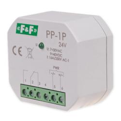 F&F Przekaźnik elektromagnetyczny podtynkowy do puszki 16A 24V AC/DC PP-1P-24V