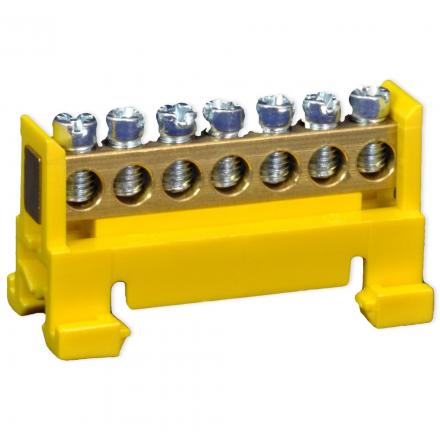SIMET Listwa zaciskowa niska na szynę 7-torowa żółta TH35 89820004
