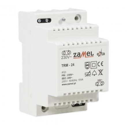 ZAMEL Transformator na szynę/natynkowy 230/24V AC 15W TRM-24