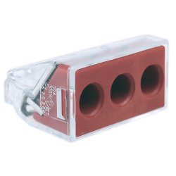WAGO Szybkozłączka uniwersalna 3x2,5-6mm² czerwona/transparentna 773-173 1szt.