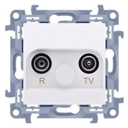 SIMON 10 Gniazdo antenowe RTV końcowe do ramki białe CAK.01/11