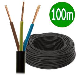 ElektroKabel Przewód warsztatowy linka H05RR-F OW 3x1,5mm² 500V guma czarny rolka 100mb