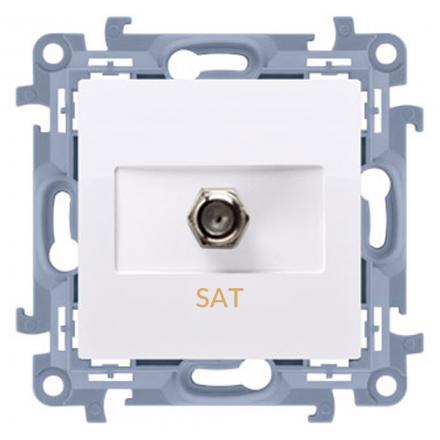 SIMON 10 Gniazdo antenowe typ F do ramki białe CASF1.01/11