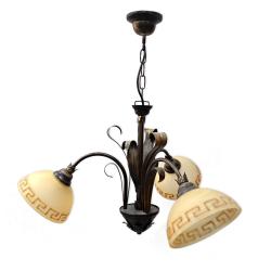 TOMEX Lampa wisząca 3x60W E27 brązowa TO574