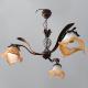 [OUTLET] TOMEX Lampa wisząca 3x60W E27 patyna klosz mleczny/pomarańczowy TO061