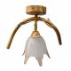 KOMBIT Lampa wisząca/kinkiet ruchomy klosz 1x60W E27 stylizowana na jasne drewno CZ230