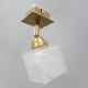 [OUTLET] POLBŁYSK Lampa/kinkiet podtynkowy 1x40W E14 złoty CZ139