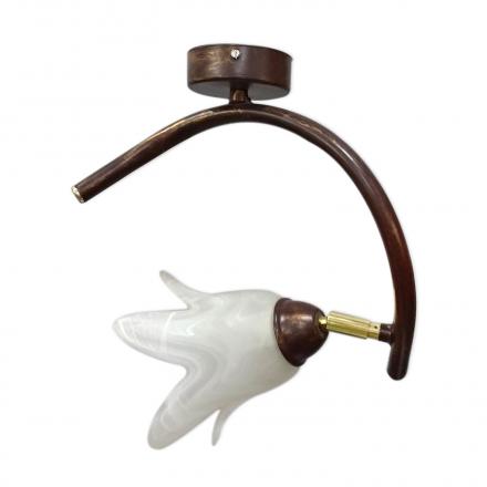 [OUTLET] KOMBIT Lampa wisząca/kinkiet ruchomy klosz 1x40W E14 stylizowana na ciemne drewno CZ218