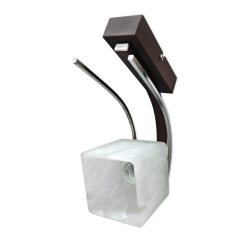 [OUTLET] GLIMEX Lampa/kinkiet 1x60W E27 brąz/chrom BY085
