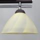 [OUTLET] GLIMEX Lampa wisząca 2x60W E27 brąz/chrom klosze żółte BY086