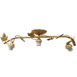 [OUTLET] KOMBIT Lampa wisząca ruchoma BEZ KLOSZY 3x60W E27 stylizowana na jasne drewno CZ236
