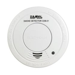 ZAMEL Czujnik dymu detektor na baterię 9V CDB-01 biały