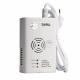 ZAMEL Czujnik czadu tlenku węgla Zasilanie sieciowe wtyczka 230V CTW-02 biały