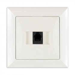 TIMEX OPAL Gniazdo telefoniczne RJ11 4pin zacisk krone LSA+ biały GTP-10 Op BI