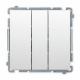 SIMON BASIC Wyłącznik łącznik potrójny do ramki biały BMW31.01/11