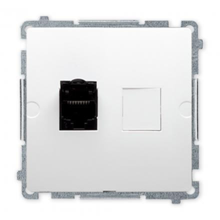 SIMON BASIC Gniazdo komputerowe RJ45 kat.6 do ramki białe BM61.01/11
