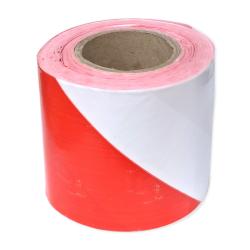 MARMAT Taśma folia ostrzegawcza oznacznikowa T80 biało-czerwona 100mb