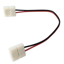 PLUS Złączka click dwustronna 2 PIN 10mm na kablu do taśm LED jednokolorowych