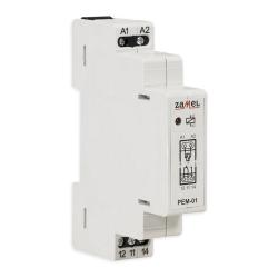 ZAMEL Przekaźnik elektromagnetyczny na szynę 1Z 1R 16A 230V PEM-01/230