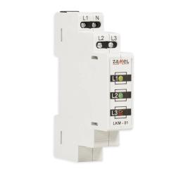ZAMEL Lampka sygnalizacyjna kontrolna LED trójfazowa 3-kolory LKM-01