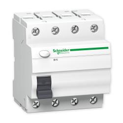 SCHNEIDER Wyłącznik różnicowoprądowy 4P 63A 0,03A typ AC IDK A9Z05463