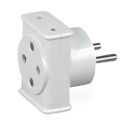 TIMEX Rozgałęźnik rozdzielacz gniazdka elektrycznego z przesłonami potrójny B/U R-1/P