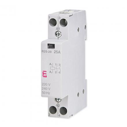 ETI Stycznik modułowy 2Z 0R 25A 230V ETICON R25-20 002463502
