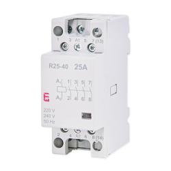 ETI Stycznik modułowy 4Z 0R 25A 230V ETICON R25-40 002462310