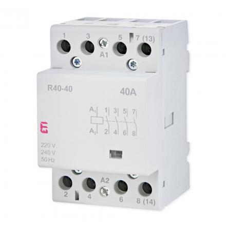 ETI Stycznik modułowy 4Z 0R 40A 230V ETICON R40-40 002463410