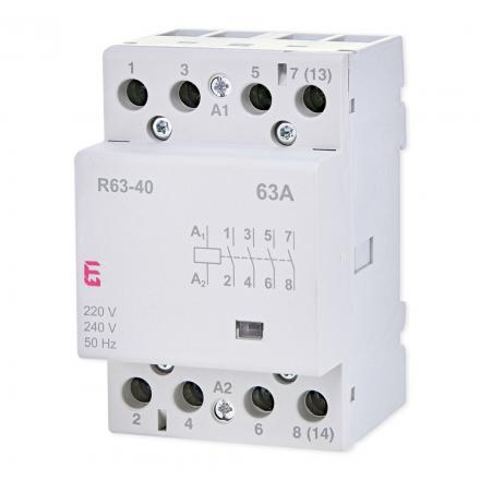 ETI Stycznik modułowy 4Z 0R 40A 230V ETICON R63-40 002463450