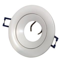 PROVERO CRATER Oprawa sufitowa p/t LED ALUMINIUM okrągła ruchoma biała ID-1010
