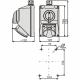 ELEKTROMET Zestaw instalacyjny gniazdo siłowe 5P + sieciowe 16A z przełącznikiem L-O-P IP54 C16-48.1N