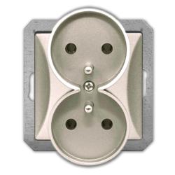 TIMEX OPAL Gniazdo podwójne z uziemieniem do ramki satyna GPt-6/m Op PI