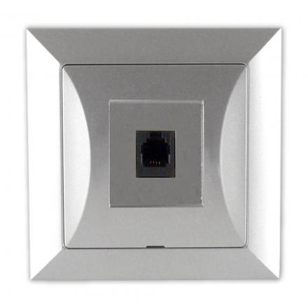 TIMEX OPAL Gniazdo telefoniczne RJ11 4pin zacisk krone LSA+ srebrne GTP-10 Op SR